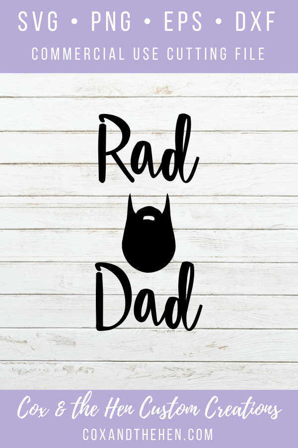 Rad Dad Svg Fathers Day Svg Beard Svg
